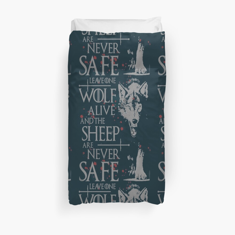 Thrones wolf t-shirt best quote Duvet Cover