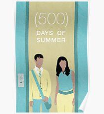(500) Days of Summer Minimalist Movie Poster Poster