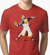 Camiseta de tejido mixto Banksy Python 1-2-5