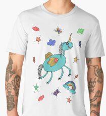 Unicorn and rainbow Men's Premium T-Shirt