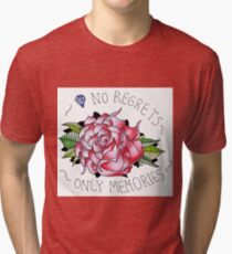 No regrets, only memories. Tri-blend T-Shirt