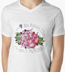 No regrets, only memories. Men's V-Neck T-Shirt