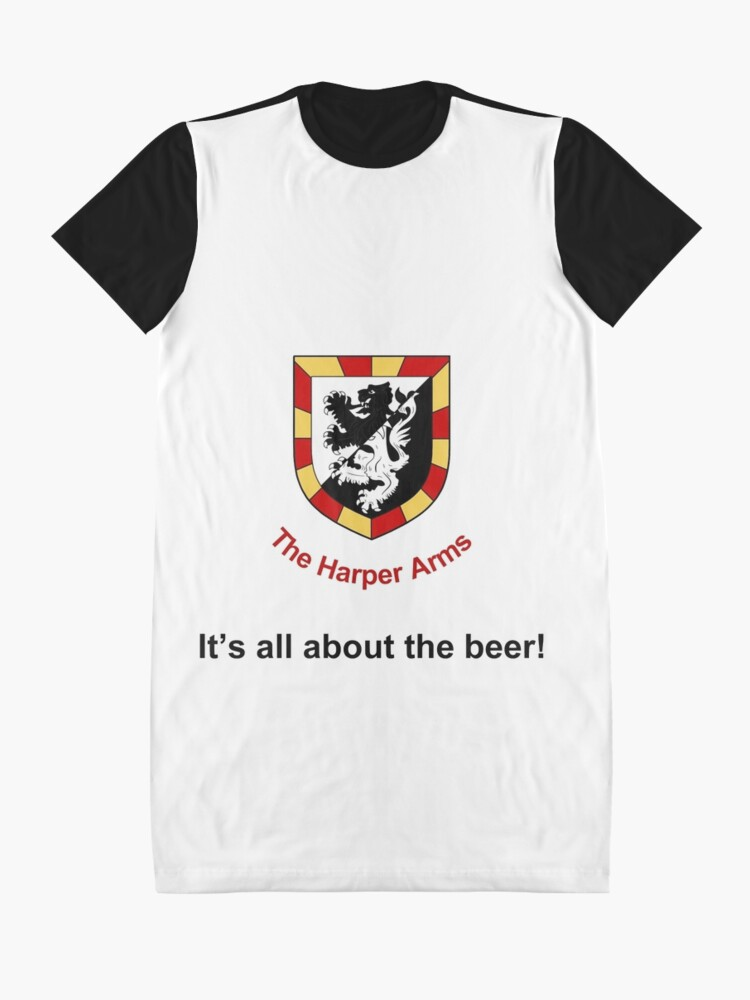 Alternate view of Harper Arms All About the Beer Graphic T-Shirt Dress