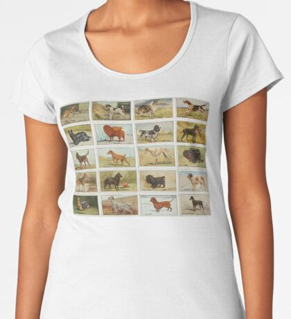 20 Colourful illustrations of dogs Women's Premium T-Shirt