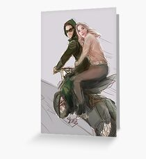 olicity motorcycle Greeting Card