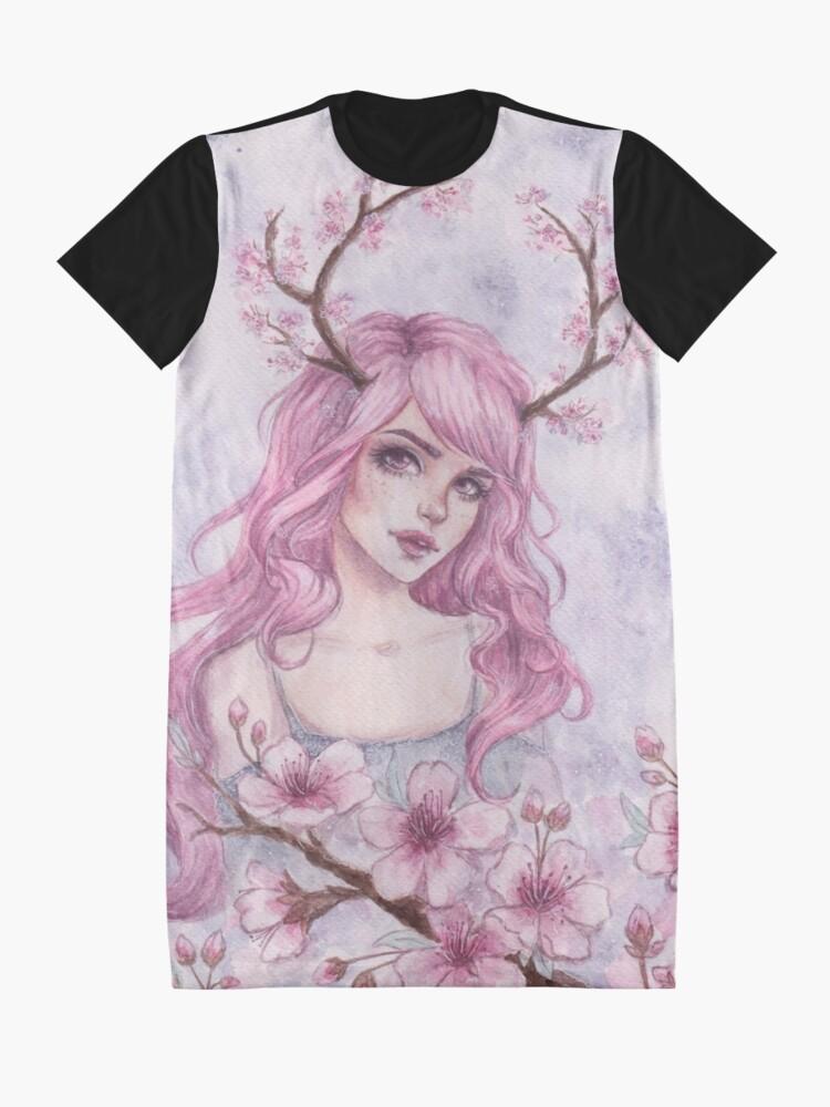 Alternative Ansicht von Kirschblüten-Geweihe T-Shirt Kleid