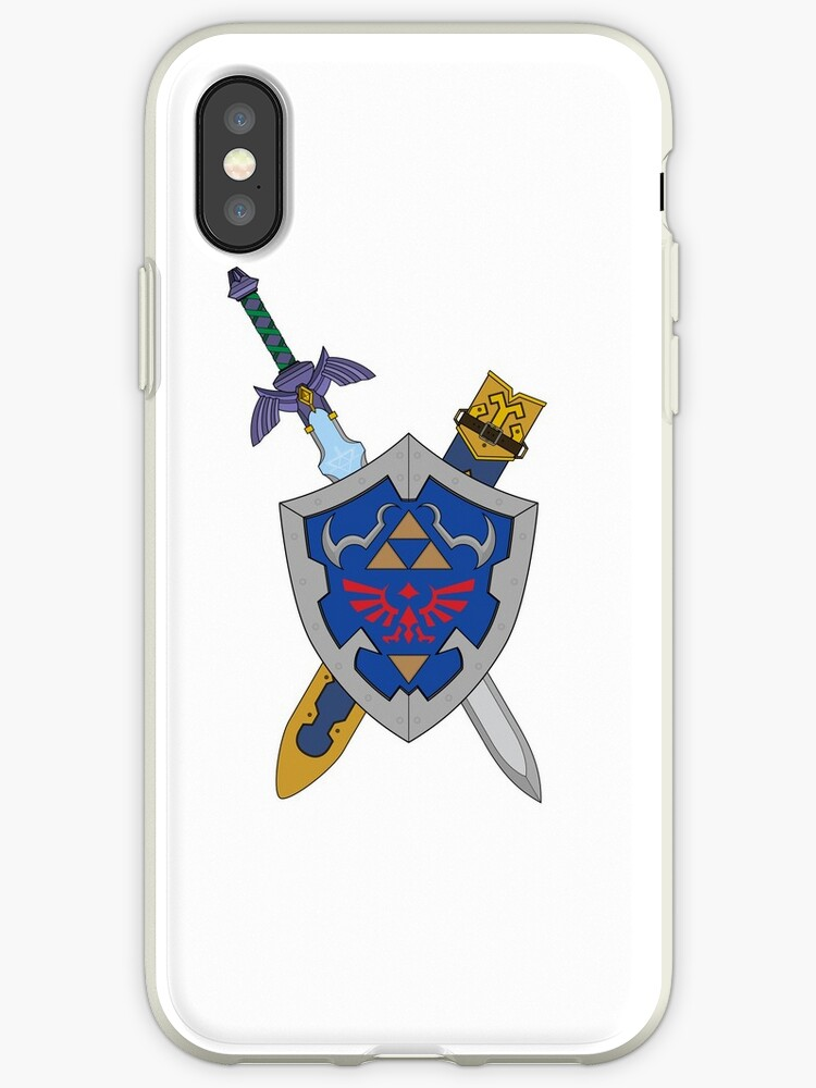 Master Sword And Hylian Shield Iphone Cases Covers By Glewprint