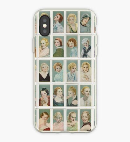 Female film stars from the 1930s. Set of 50 iPhone Case