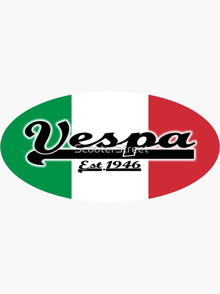 Team Vespa Oval - Italian Flag by ScooterStreet