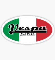 Team Vespa Oval - Italian Flag Sticker