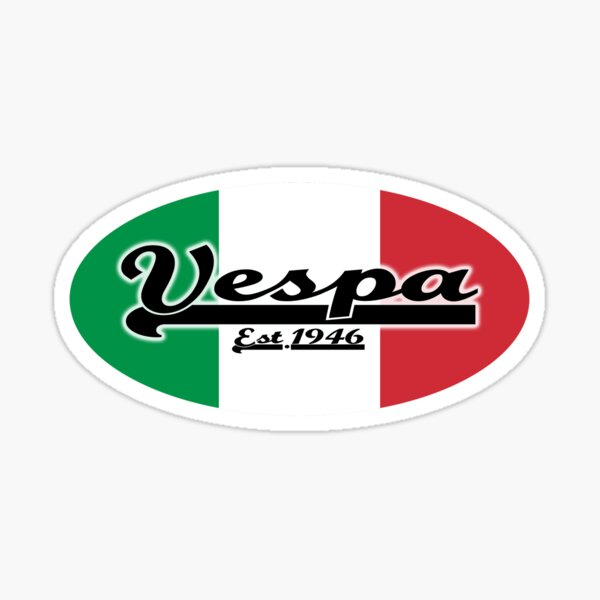 Team Vespa Oval - Italian Flag Sticker