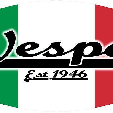 Team Vespa Oval - Italian Flag by ScooterStreet