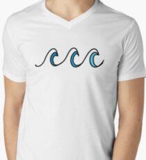 Simple beach waves wavy design Men's V-Neck T-Shirt