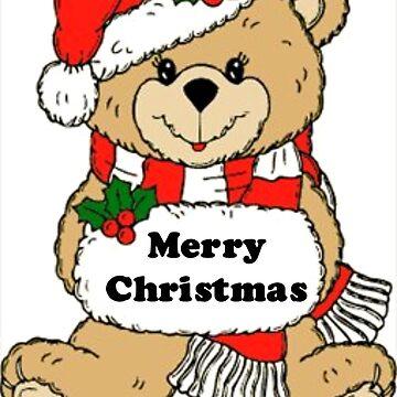 Christmas Teddy Bear Message by BlackStarGirl