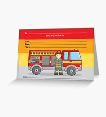 Cute Little Fireman Greeting Card