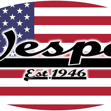 Team Vespa Oval - United States Of America Flag by ScooterStreet