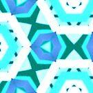 Blue hexagons pattern by Silvia Ganora