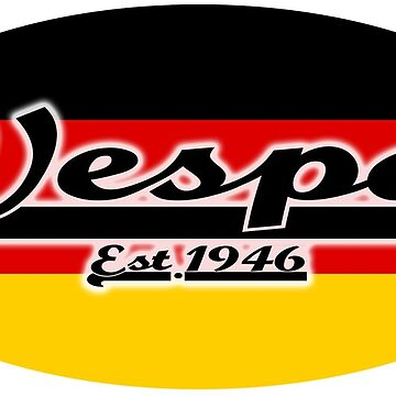 Team Vespa Oval - German Flag by ScooterStreet