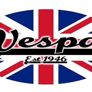 Team Vespa Oval - Union Jack/Great Britain Flag by ScooterStreet