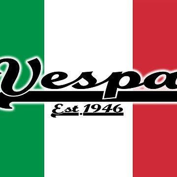 Team Vespa - Italian Flag by ScooterStreet