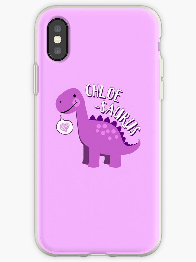 Chloe Saurus Dinosaur Name Fun Cute Personalized Iphone Case By Steamertees
