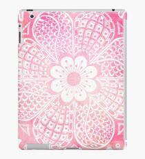 Vinilo o funda para iPad Acuarela femenina rosada y blanca femenina abstracta floral
