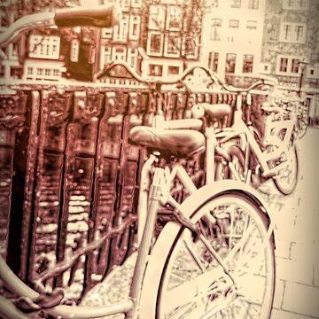 Bicyclettes Amsterdam by MAMMAJAMMA