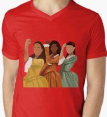 Camiseta para hombre de cuello en v Hermanas Schuyler