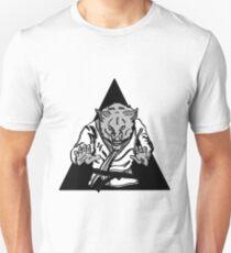 Black Belt Wolf  Slim Fit T-Shirt