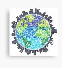 Zentangle Earth Canvas Print