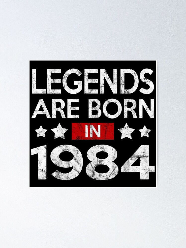 Birthday Gift Shirt 33 Birthday Age Shirt Born in 1984 Happy Birthday Gift