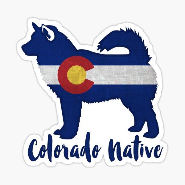Alaskan Malamute Colorado Native Sticker