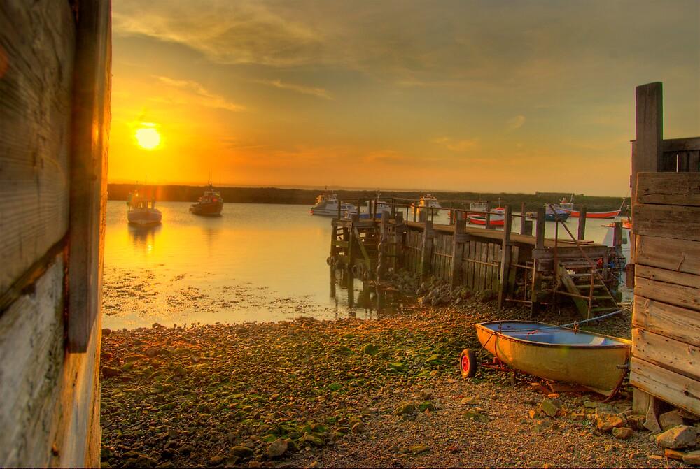 sunset at Paddy's hole by WhartonWizard