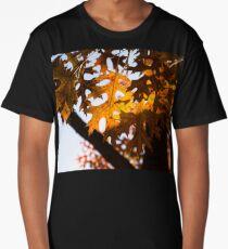 Celebrating Autumn Colors - Oak Tree Fall Foliage Long T-Shirt