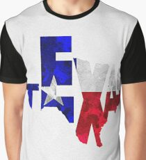 Texas Typographic Map Flag Graphic T-Shirt