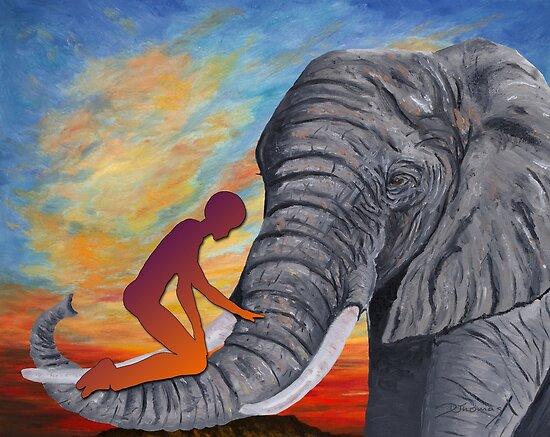 Schutzpatron Elefant / Elephant as Patron von Doris Thomas