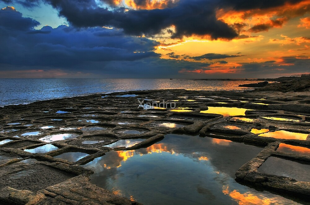 Sunrise On The Saltpans by Xandru