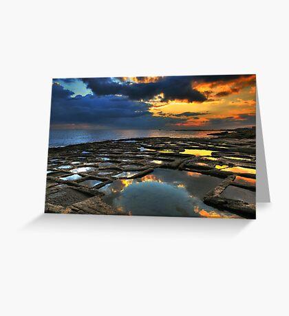 Sunrise On The Saltpans Greeting Card
