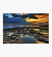 Sunrise On The Saltpans Photographic Print