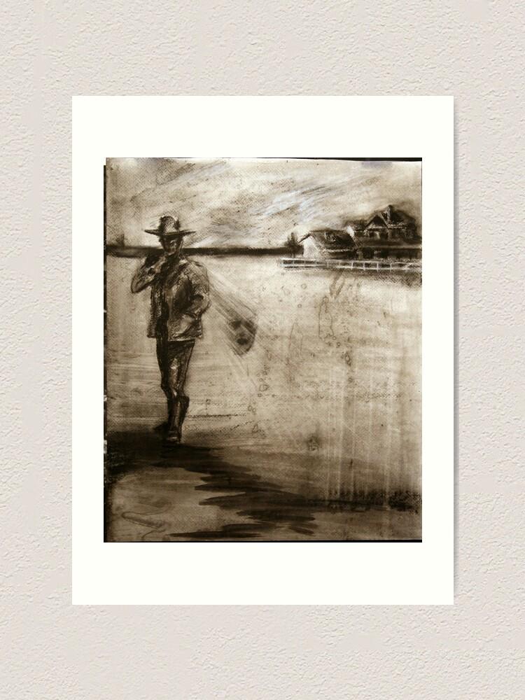 Alternate view of lone gunman Art Print