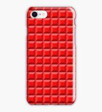 Red Blocks Pattern iPhone Case/Skin