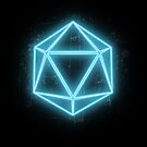 Neon D20 by Christie Porter