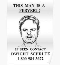 The Office - This Man Is A Pervert HD Poster Poster