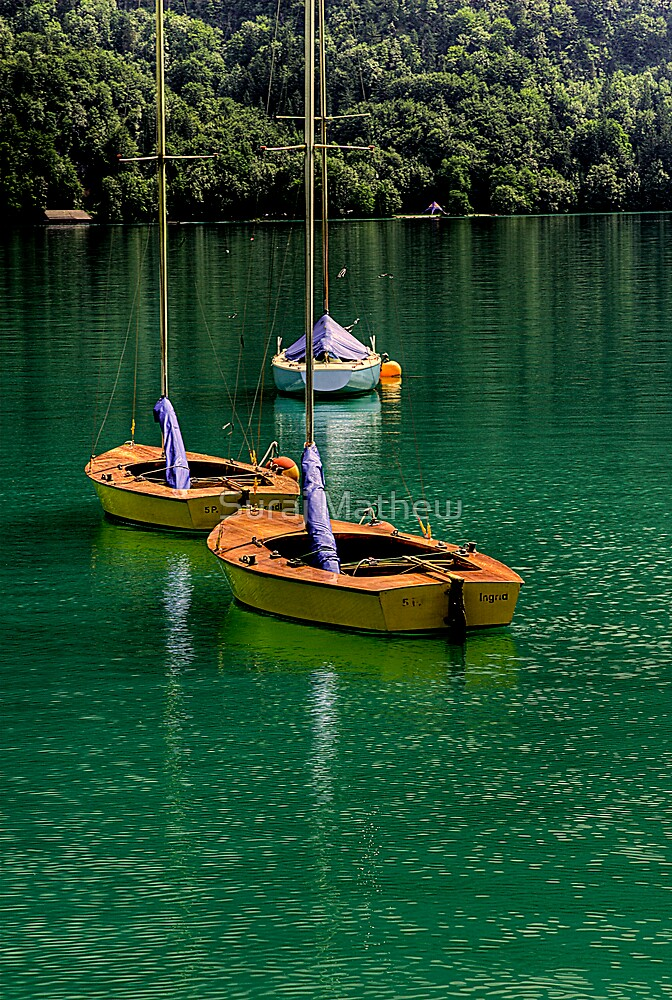 Boats at Wolfgangsee, Austria by Suraj Mathew