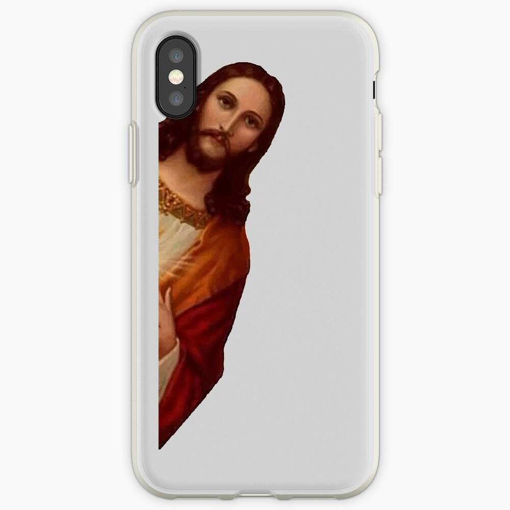 Jesús está mirando Meme Vinilos y fundas para iPhone