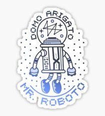 Mr. Roboto Sticker