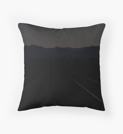 Ivanpah Valley Moonlight Throw Pillow