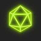Neon Green D20 by Christie Porter