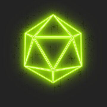 Neongrün D20 von fwick