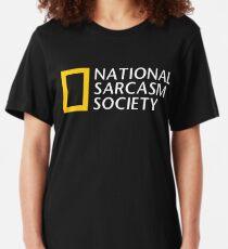 National Sarcasm Society Slim Fit T-Shirt